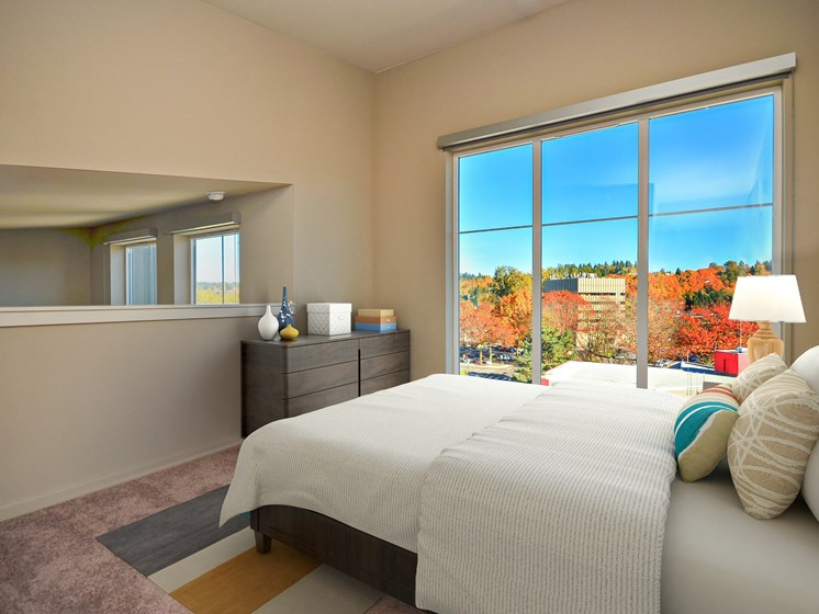 Bedroom with Stunning Views at Second and Main, Washington