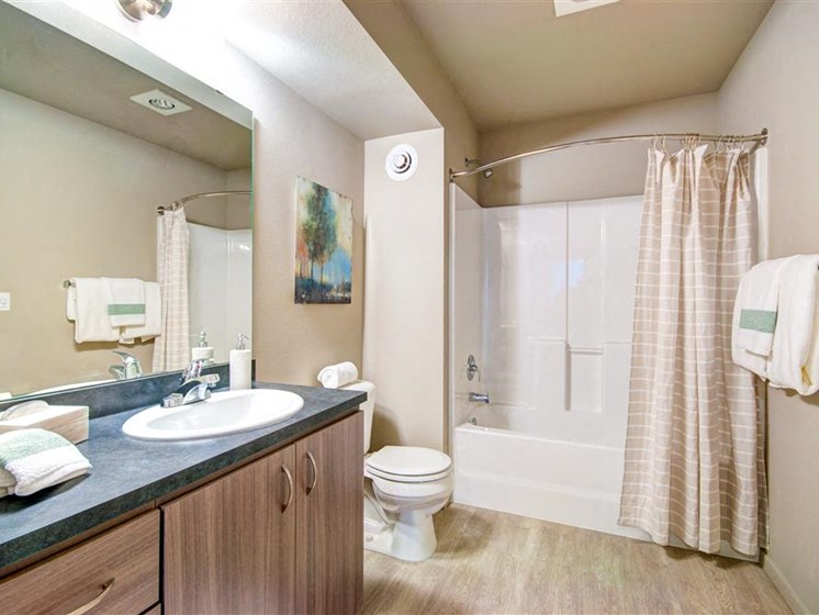 Spa-Inspired Bathrooms with Large Soaking Tub at Second and Main, Renton