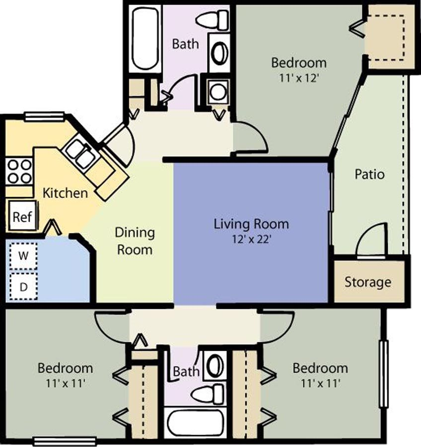 The Courtyard Floor Plan 11
