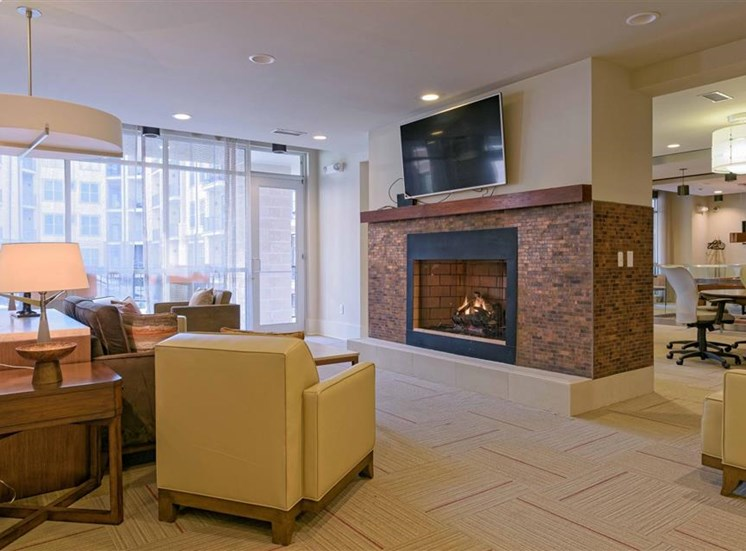 Clubhouse Fireplace 1160 Hammond Apartments in Sandy Springs, GA