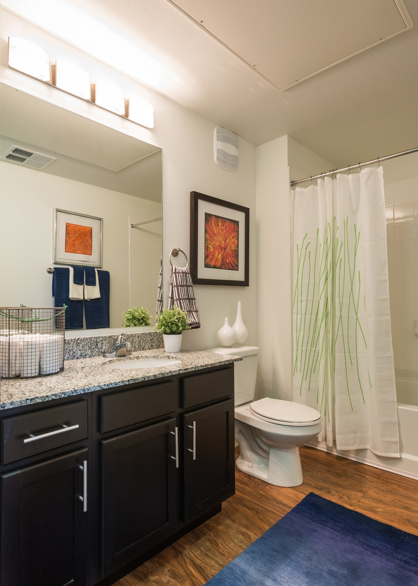 Bathroom at Arterra Place Apartments in Aurora, CO