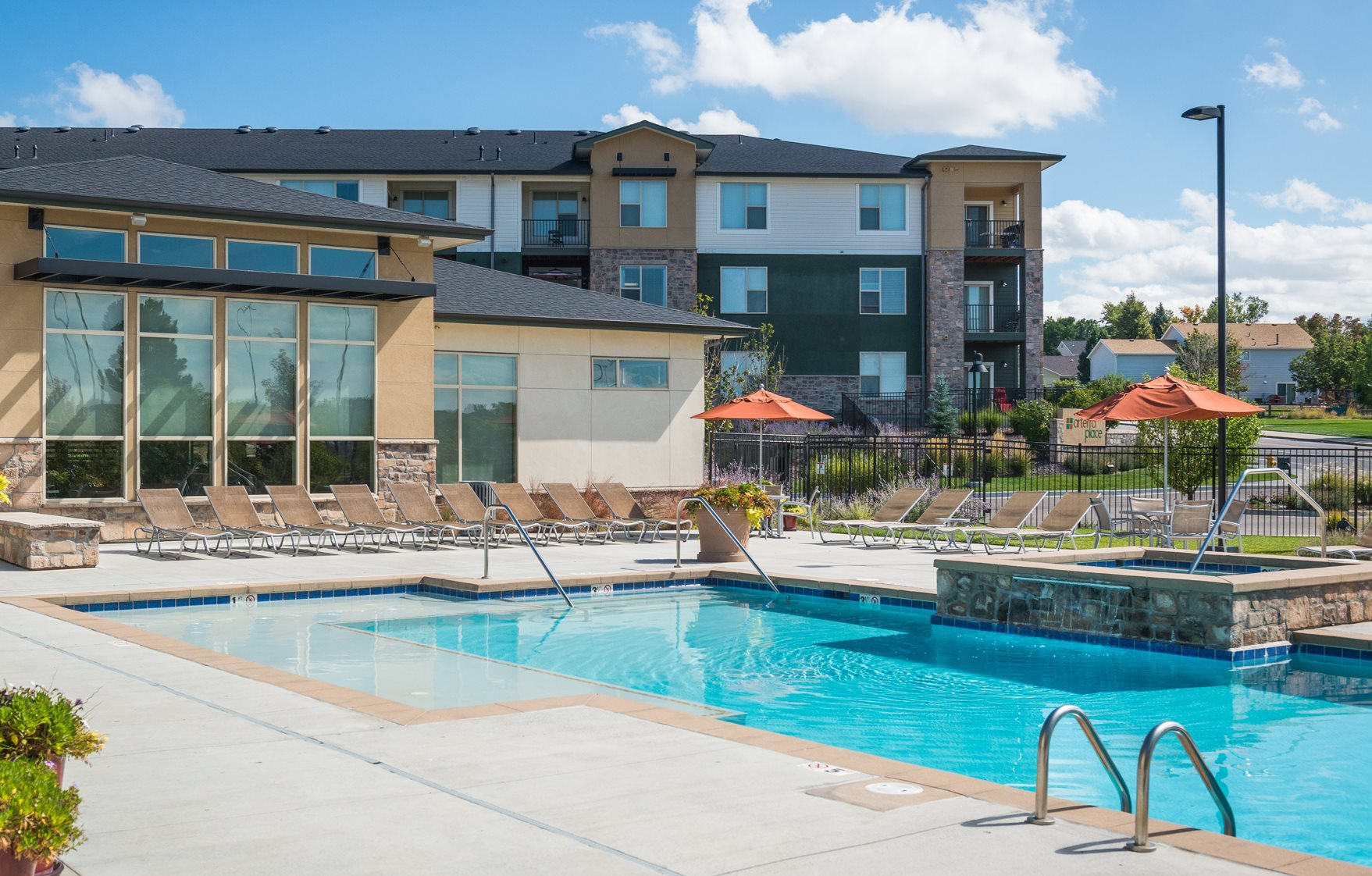 Swimming Pool at Arterra place Apartments in Aurora, CO