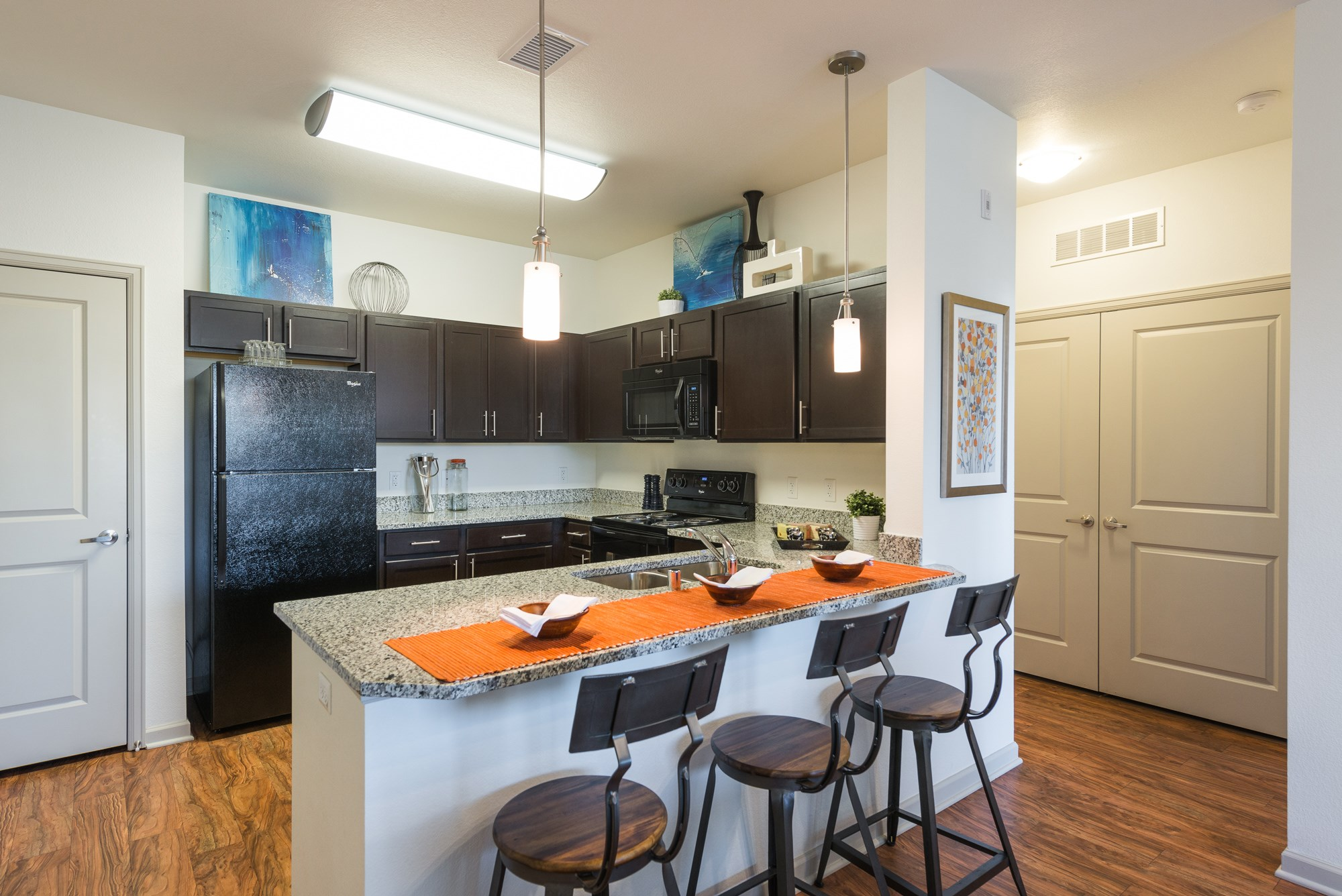Kitchen at Arterra Place Apartments in Aurora, CO