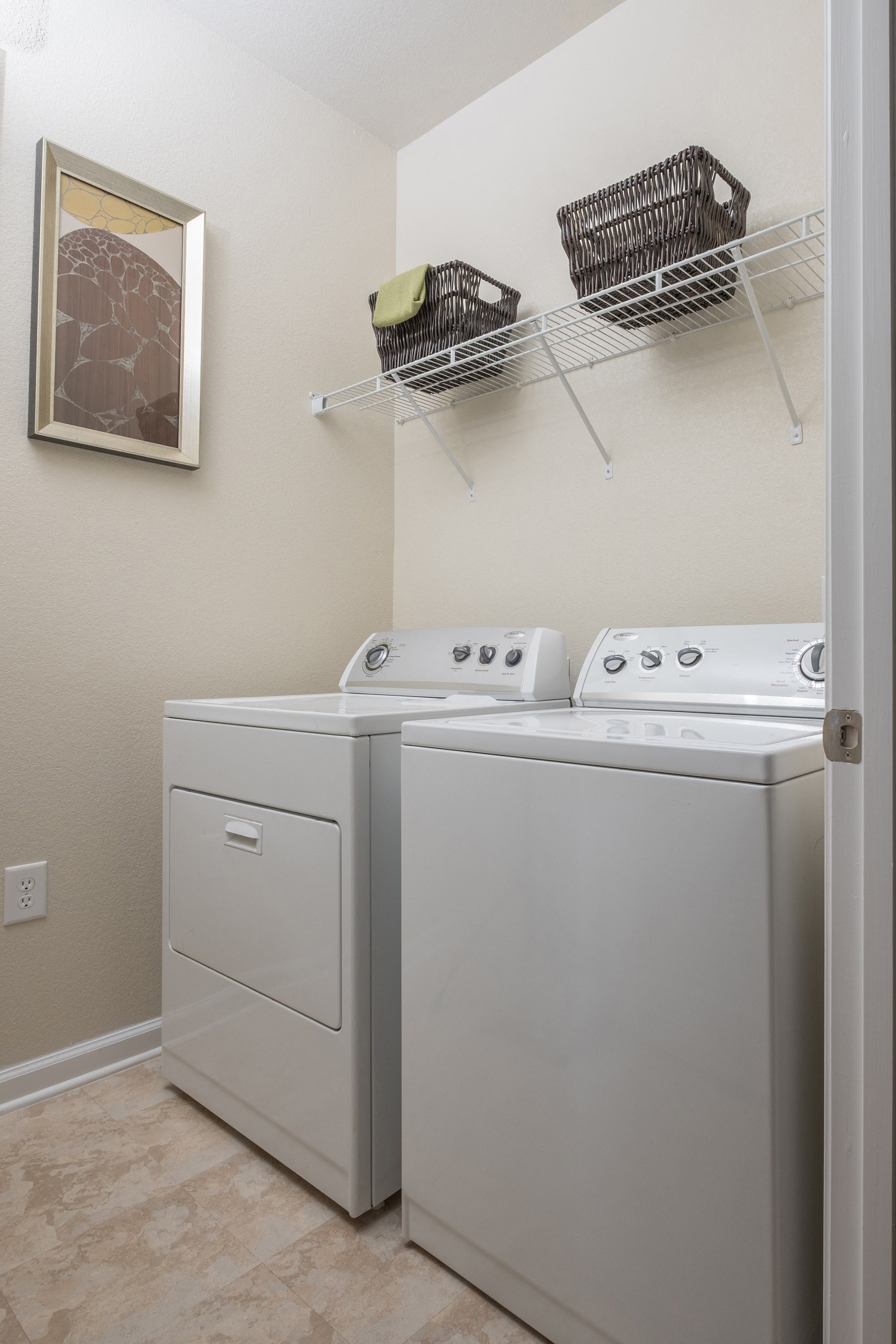 Laundry Room at View at Legacy Oaks Apartments in Knightdale, NC