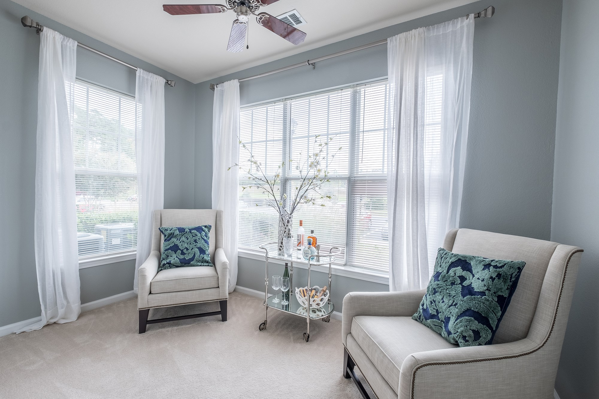 Den at View at Legacy Oaks Apartments in Knightdale, NC