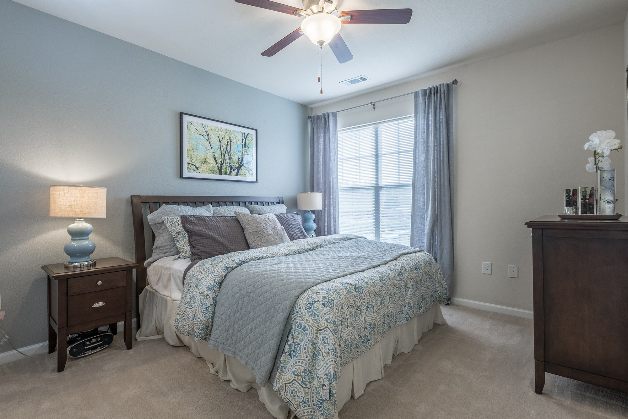 Bedroom at View at Legacy Oaks Apartments in Knightdale, NC