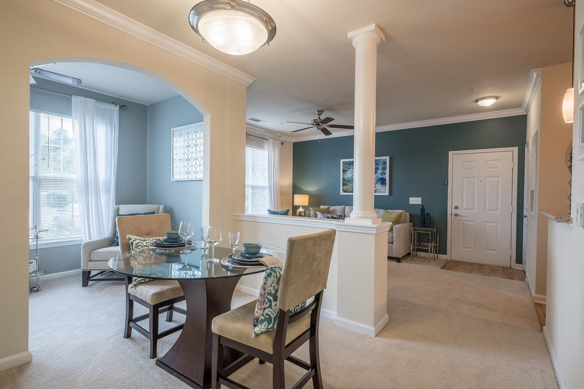 Dining Area at View at Legacy Oaks Apartments in Knightdale, NC