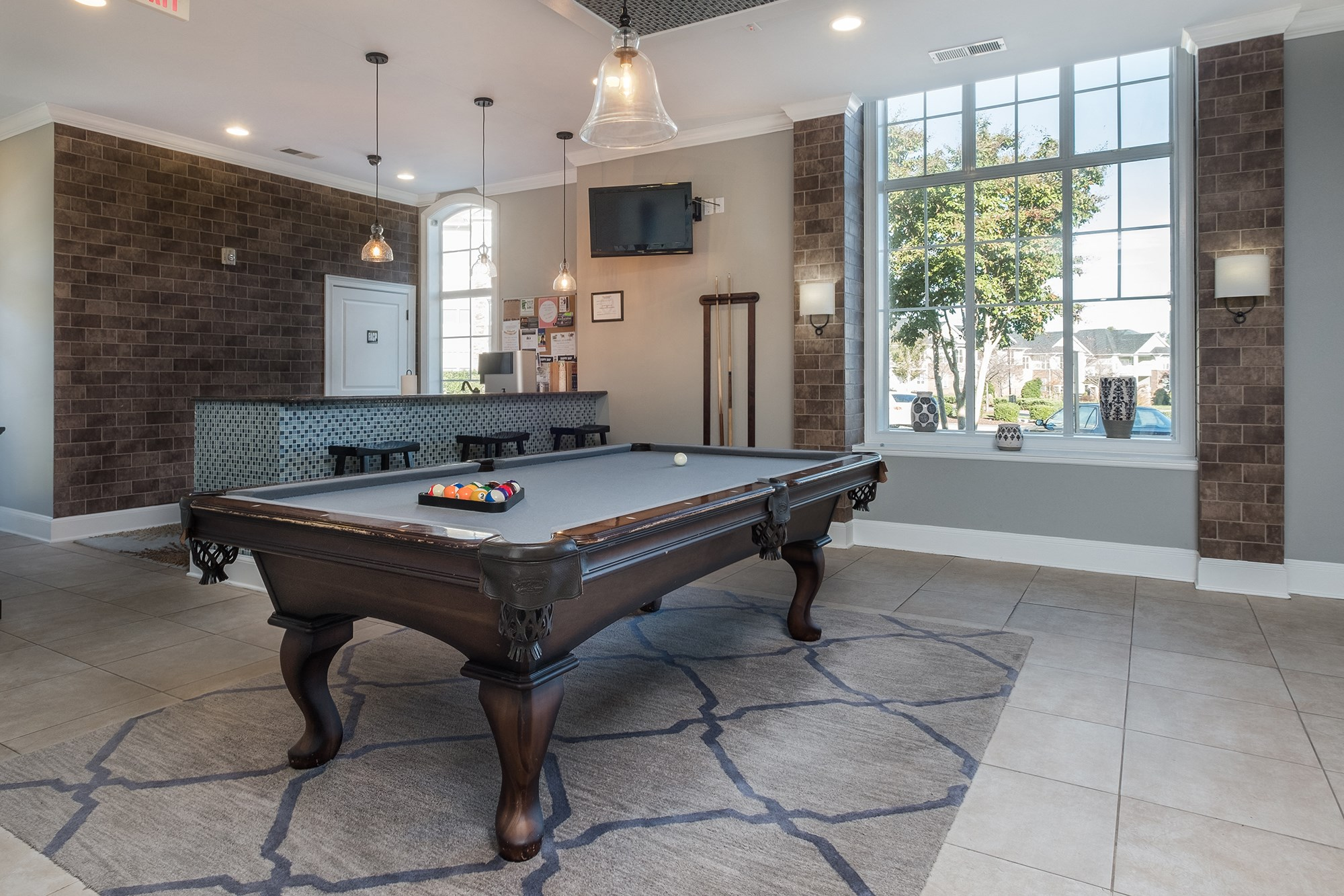 Billiards at View at Legacy Oaks Apartments in Knightdale, NC