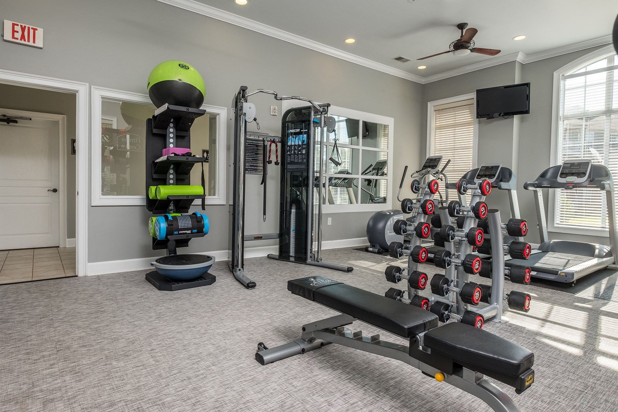 Fitness Center at View at Legacy Oaks Apartments in Knightdale, NC