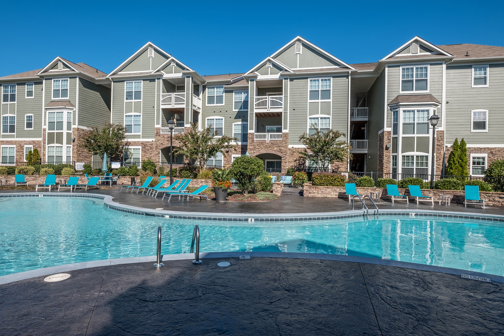Swimming Pool at View at Legacy Oaks Apartments in Knightdale, NC