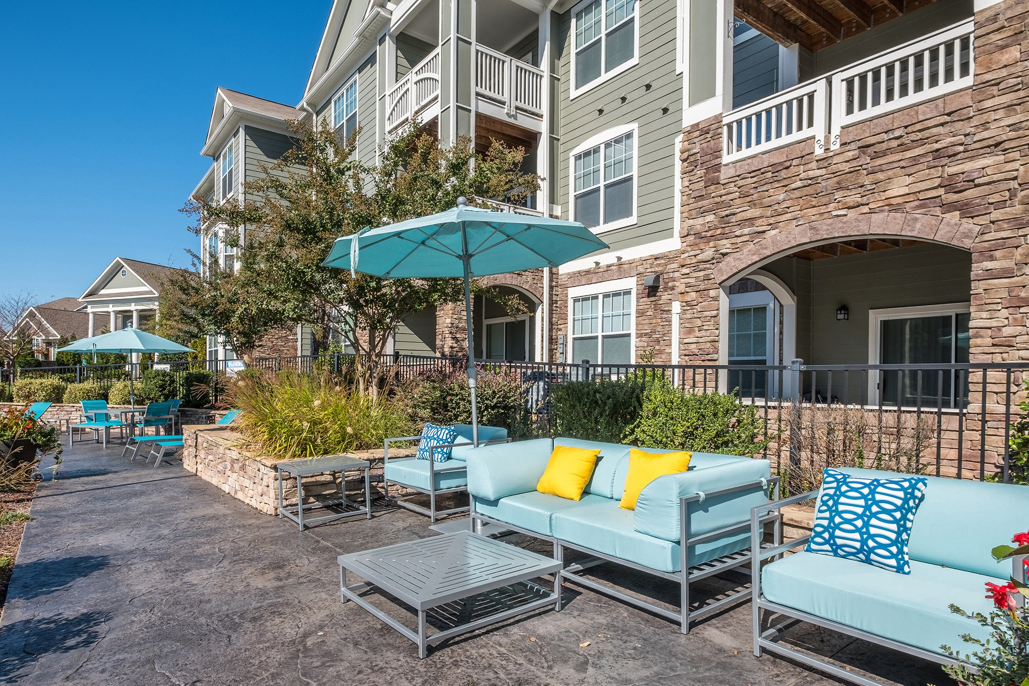 Sun Deck at View at Legacy Oaks Apartments in Knightdale, NC