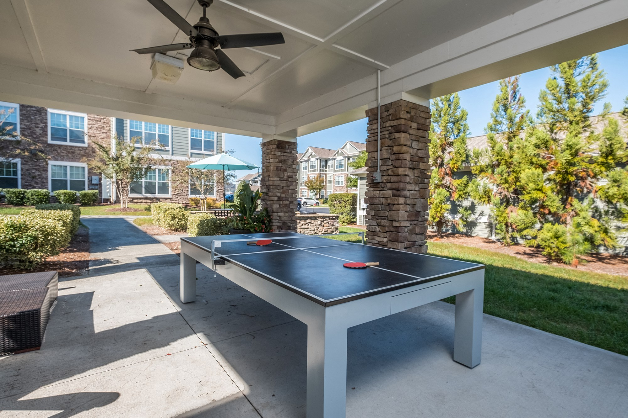 Table Tennis at View at Legacy Oaks Apartments in Knightdale, NC