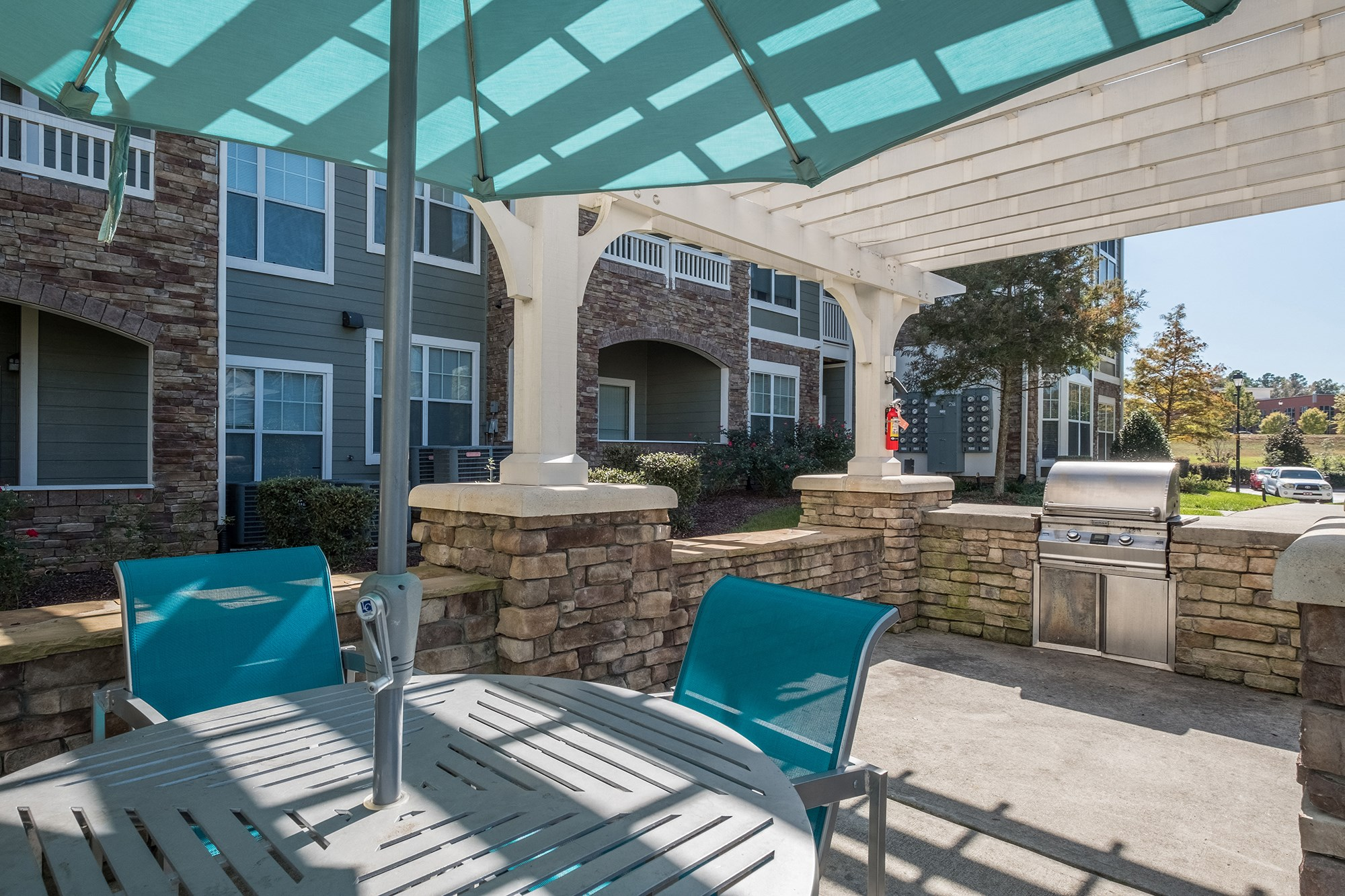Grills at View at Legacy Oaks Apartments in Knightdale, NC