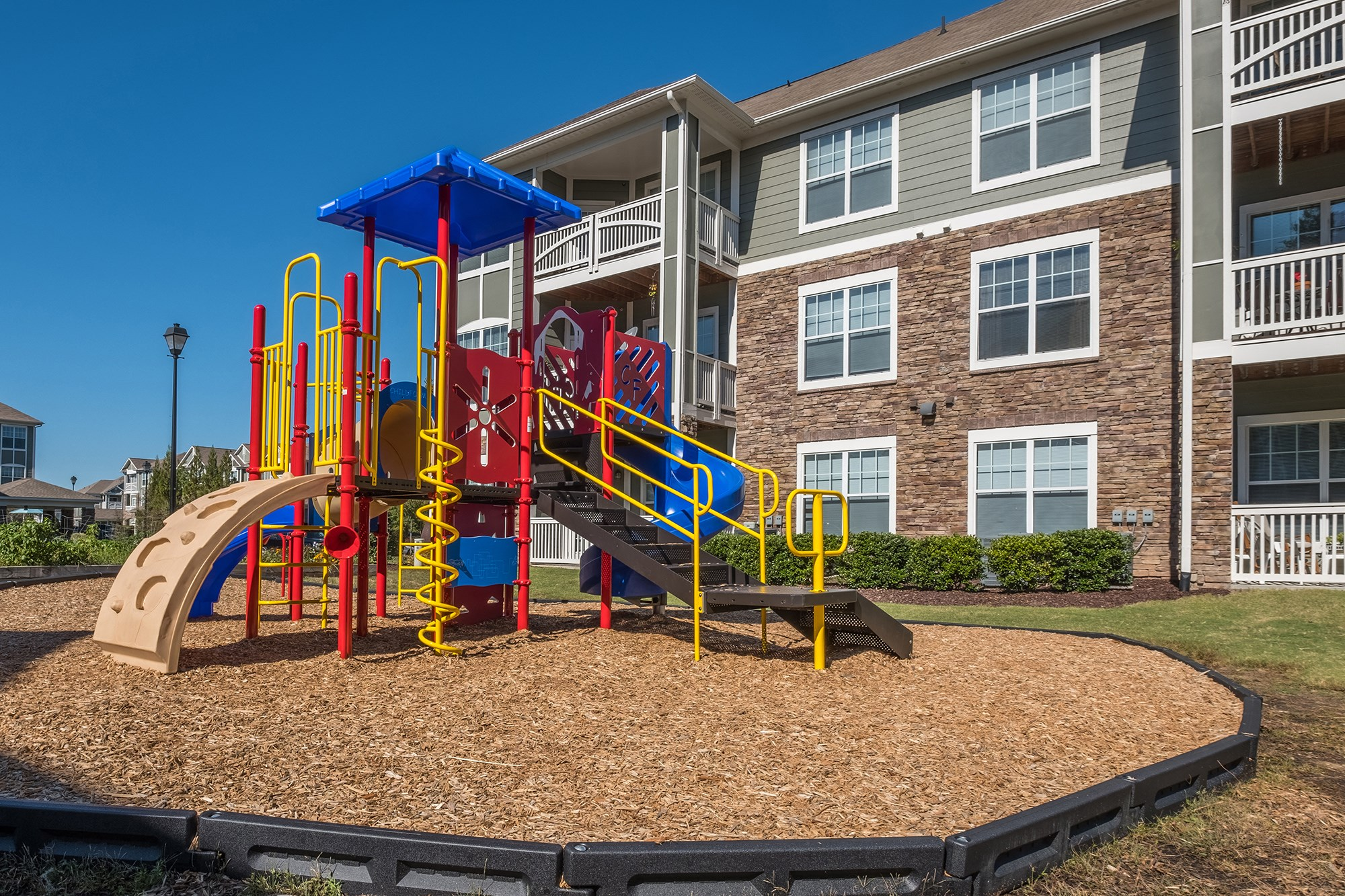 Playground at View at Legacy Oaks Apartments in Knightdale, NC
