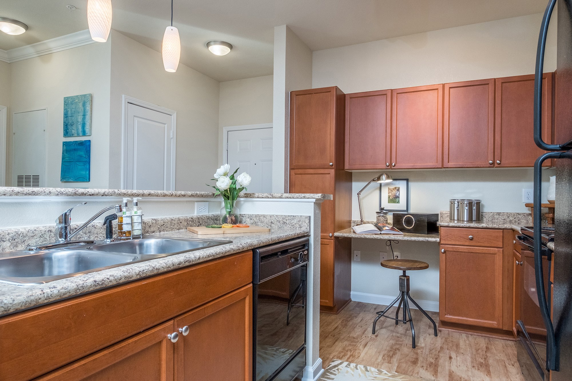 Kitchen at View at Legacy Oaks Apartments in Knightdale, NC