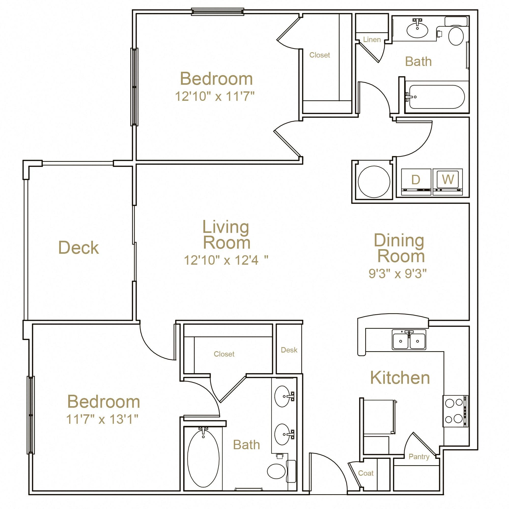 2D Floor Plan 7