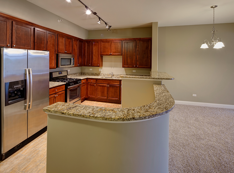 Granite Countertops at Two Itasca Place Apartments, 2 Itasca Rd, Itasca, IL 60143