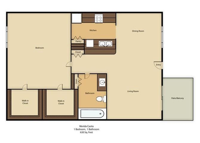 Merida Casita Floor Plan 4