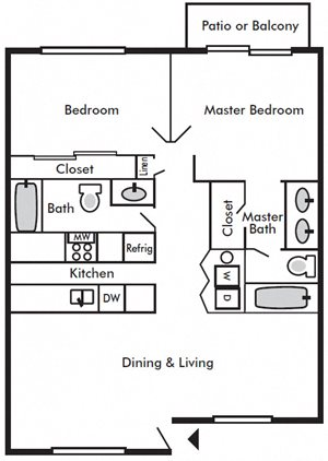 Two Bedroom Two Bath B