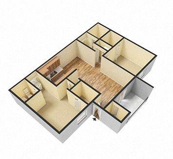 2Bed_2Bath Floor Plan 2