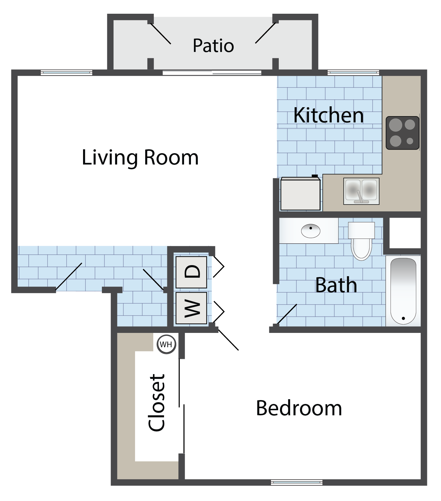 Floor Plans Of Coolidge Apartments In Coolidge Az