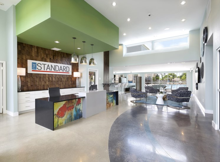 Stylish Lobby at Standard at Leander Station, Texas, 78641