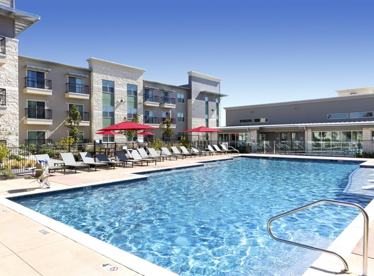 Upscale Lap and Lounge Swimming Pools at Standard at Leander Station, Texas, 78641