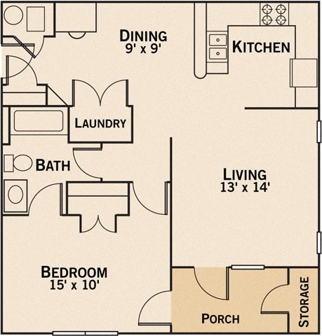 One Bedroom Apartment - Devonshire Apartments - Greenwood