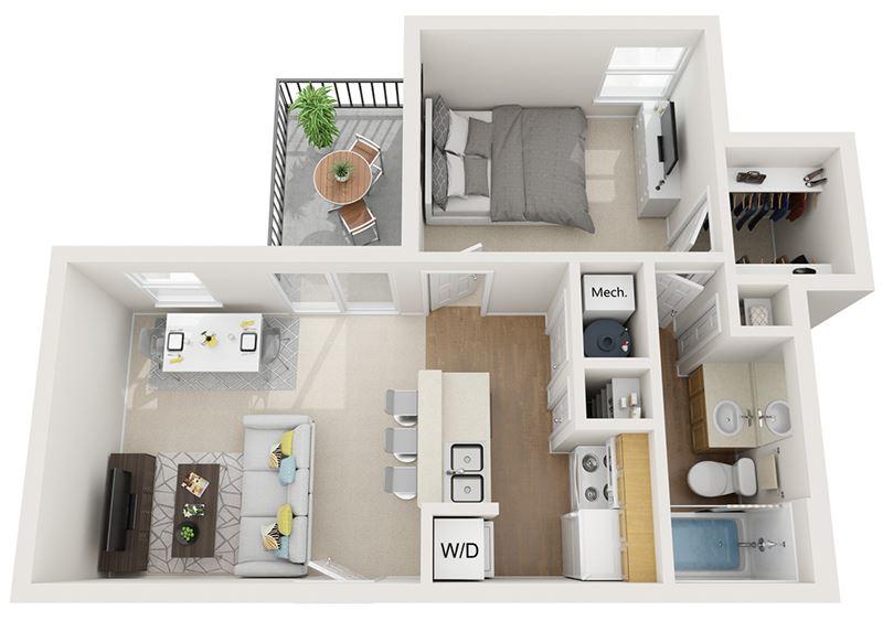 Mountain Run   Apartments   Sandia_1b1b
