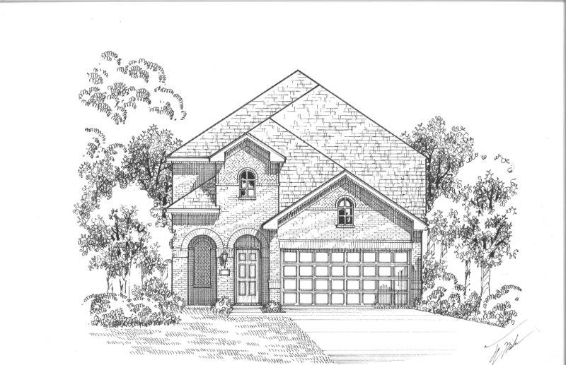 Cottages 1181 A Elevation, Lewisville, TX 75056