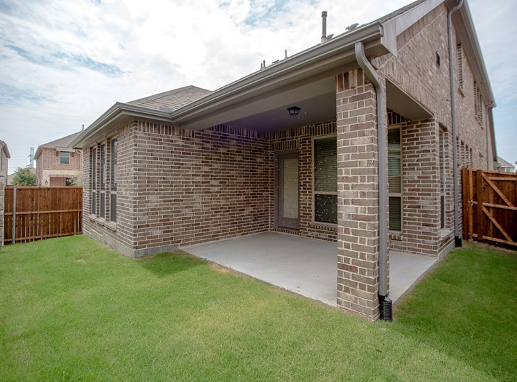 Patios for Entertaining at Cottages at the Realm, Homes for rent in Castle Hills, Lewisville, TX