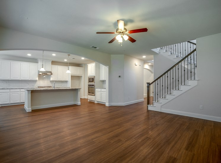 hardwood floors at Cottages at the Realm, Homes for rent in Lewisville, Texas 75056