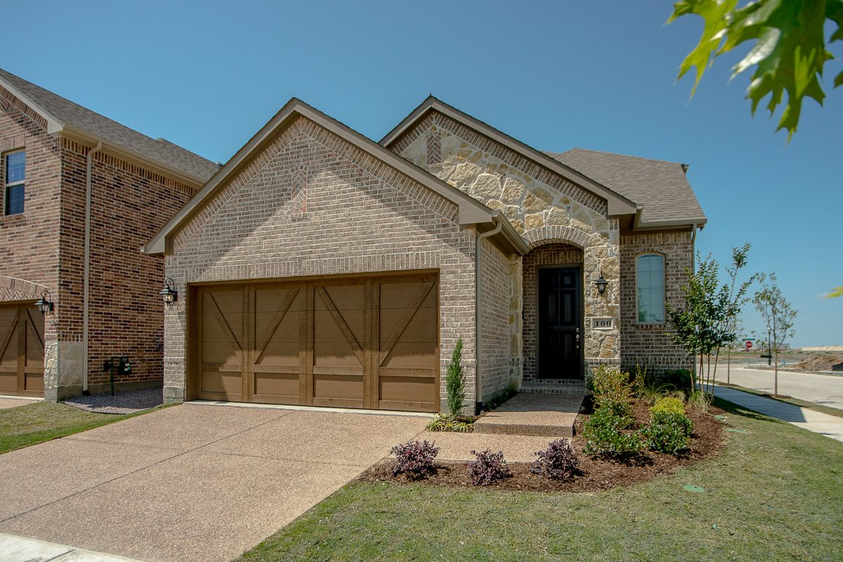 Upscale Luxury Rental Home Exterior at Cottages at the Realm, Homes for rent in Lewisville, Texas 75056
