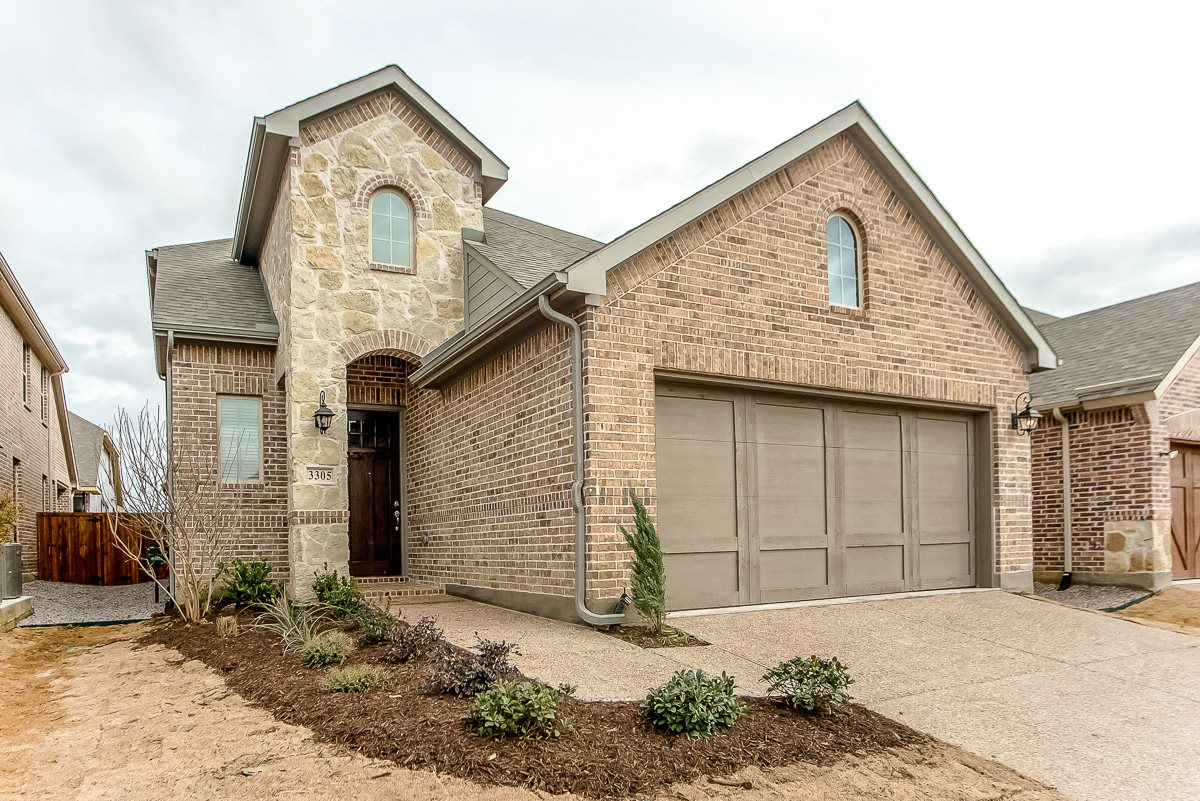 Upscale Luxury Rental Home Exterior at Cottages at the Realm, Homes for rent in Lewisville, TX 75056