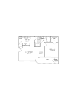 750 square foot 1 bedroom