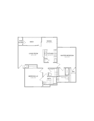 1240 square foot 2 bedroom 2 bathroom