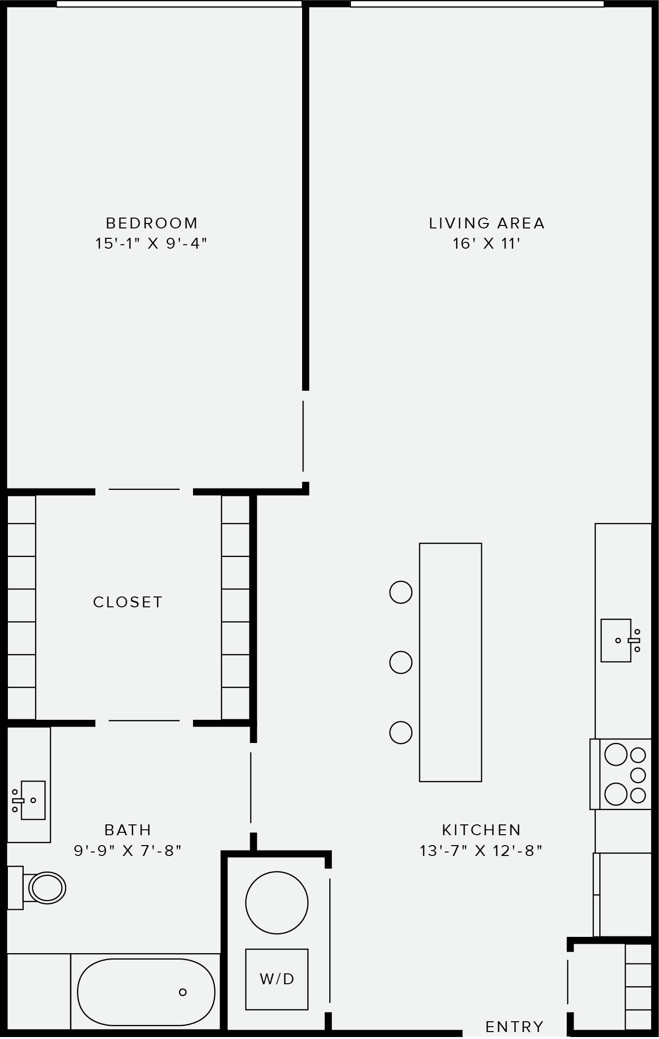 1 Bedroom Style C