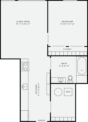 1 Bedroom Style F