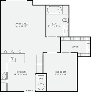 1 Bedroom Style G
