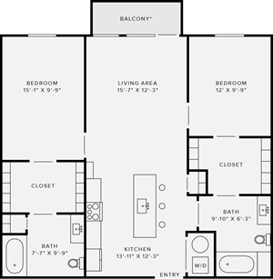 2 Bedroom Style B Accessible