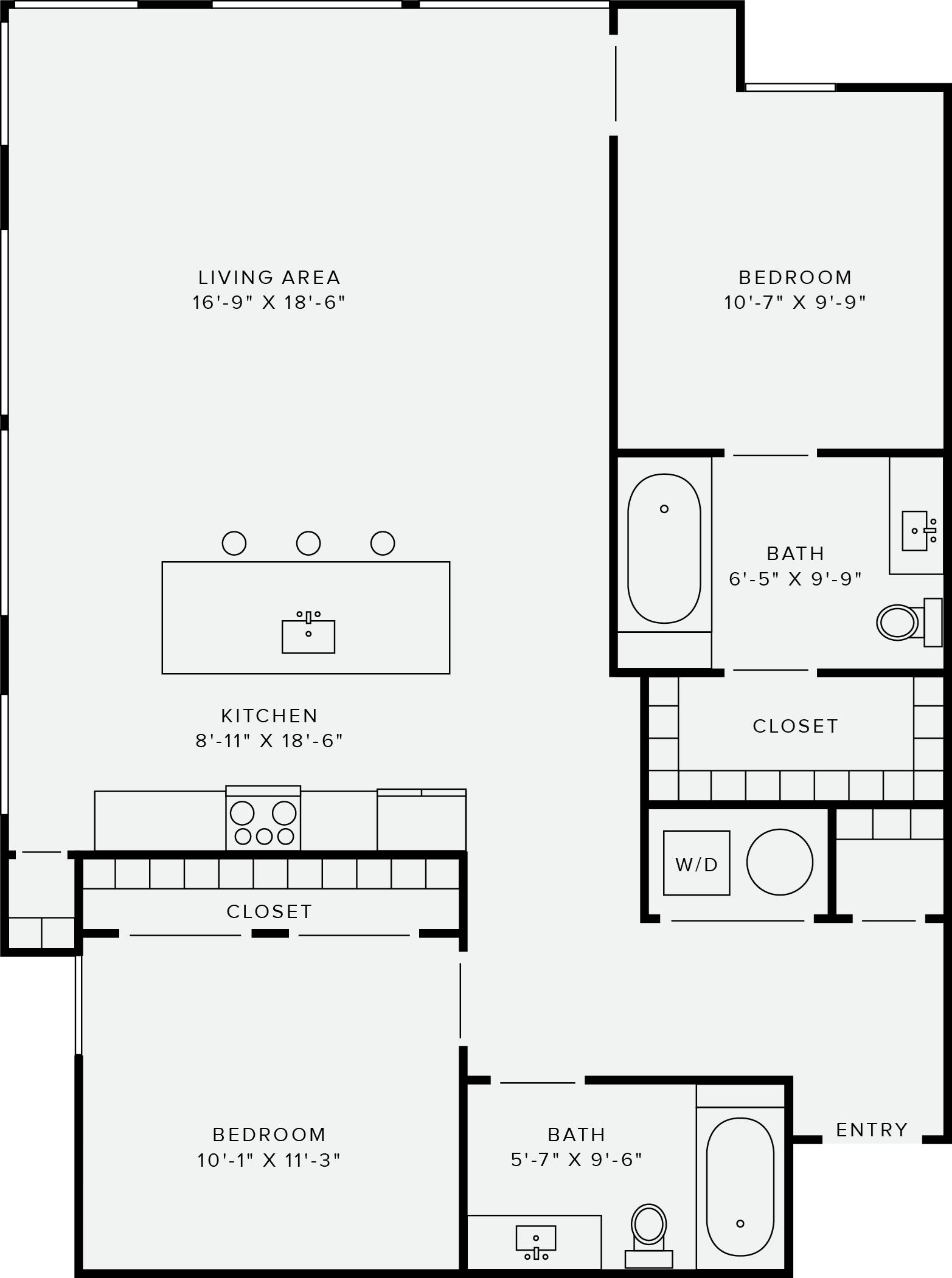 2 Bedroom Style C