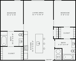 2 Bedroom Style D