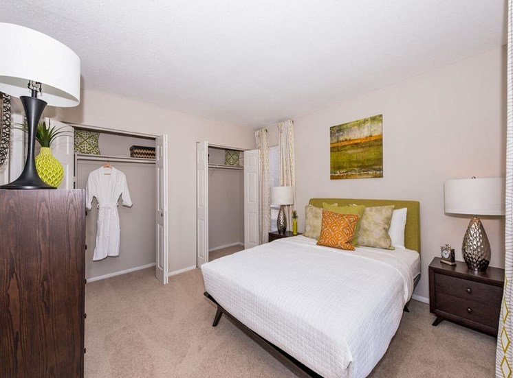 Bedroom at Luxury apartments in Wilmington NC