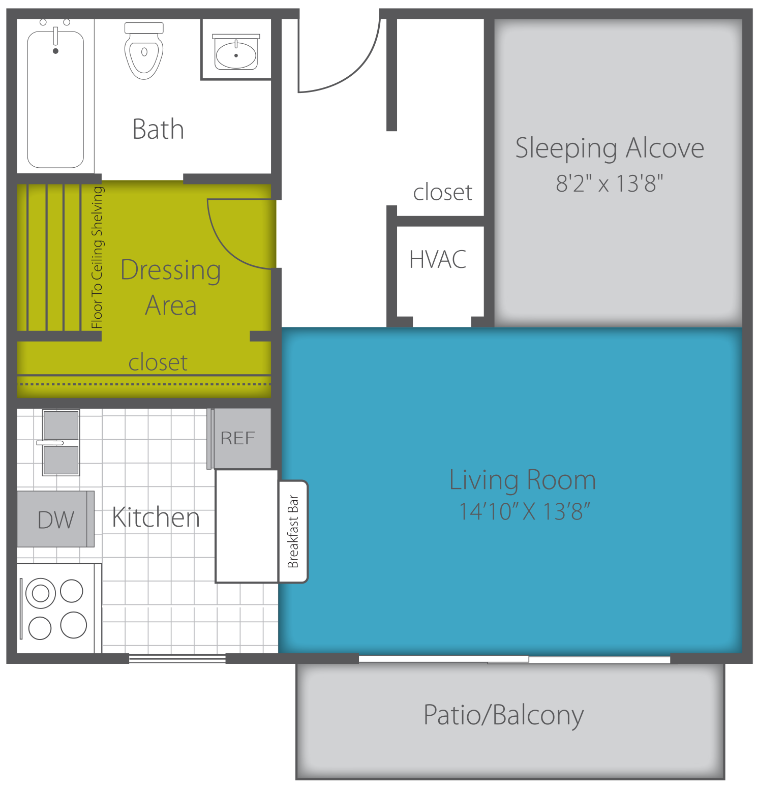 STUDIO RENOVATED Floor Plan 2