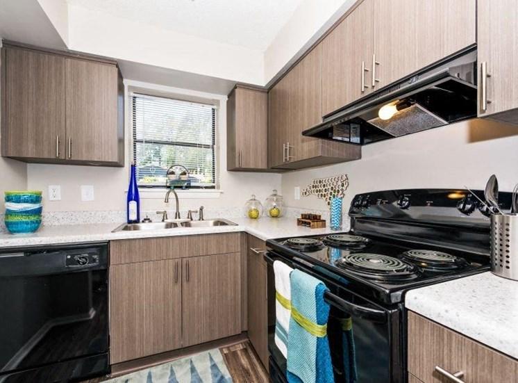 Kitchen at 34 North Apartments