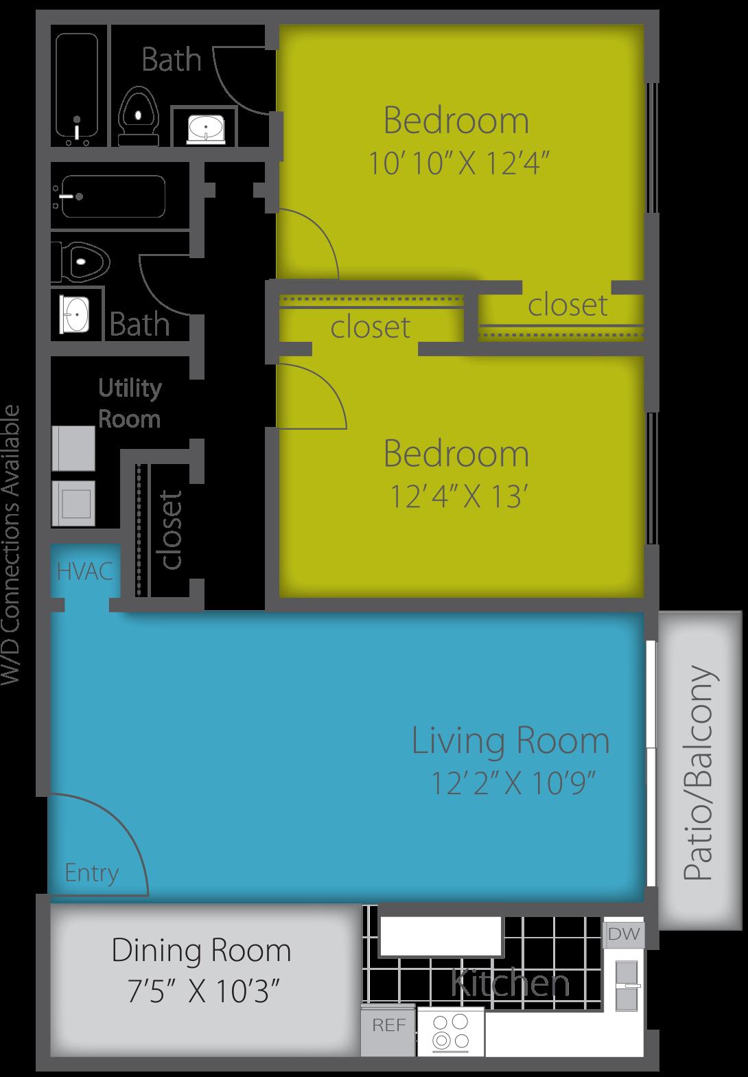 2X2 CLASSIC Floor Plan 7