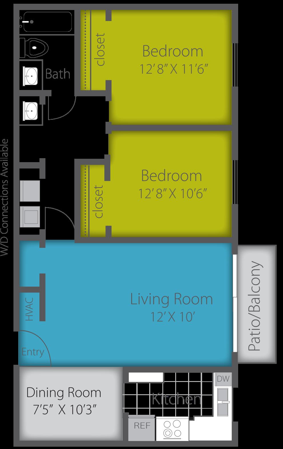 2X1 CLASSIC Floor Plan 5