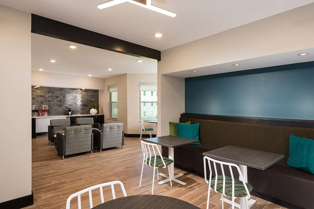 Coffee bar at College Suites at Hudson Valley, Troy, NY