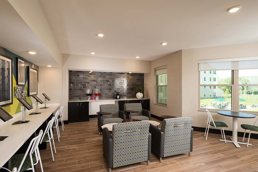 Modern Lounges at College Suites at Hudson Valley, Troy, 12180