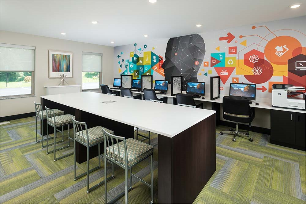 24-Hour Group Study Areas at College Suites at Hudson Valley, Troy, New York